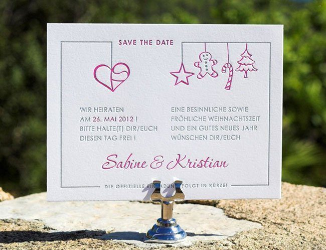 wozu save the date karten kreative hochzeitspapeterie hochzeitsguide. Black Bedroom Furniture Sets. Home Design Ideas