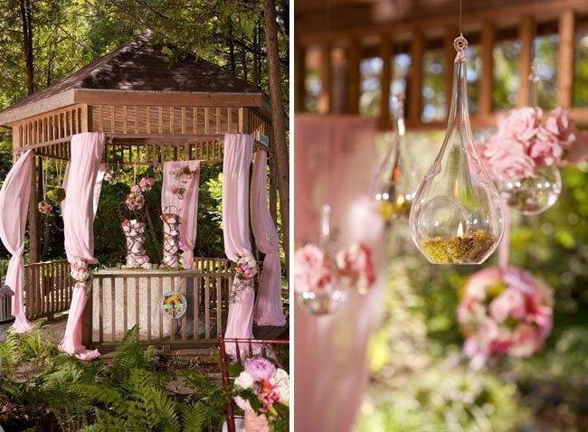 Romantisches Flair Mit Einer Hochzeitsfeier Im Eigenen Garten