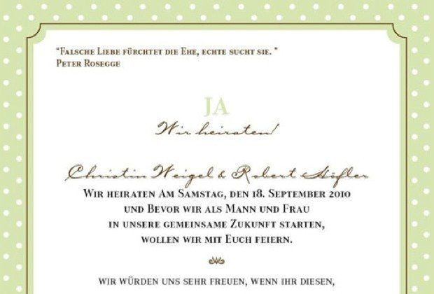 Anregungen für eure Hochzeitseinladungstexte - Hochzeitsguide