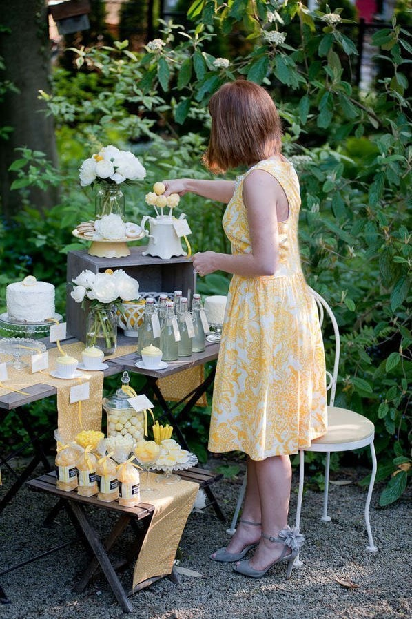 Lemon Dessert Table02