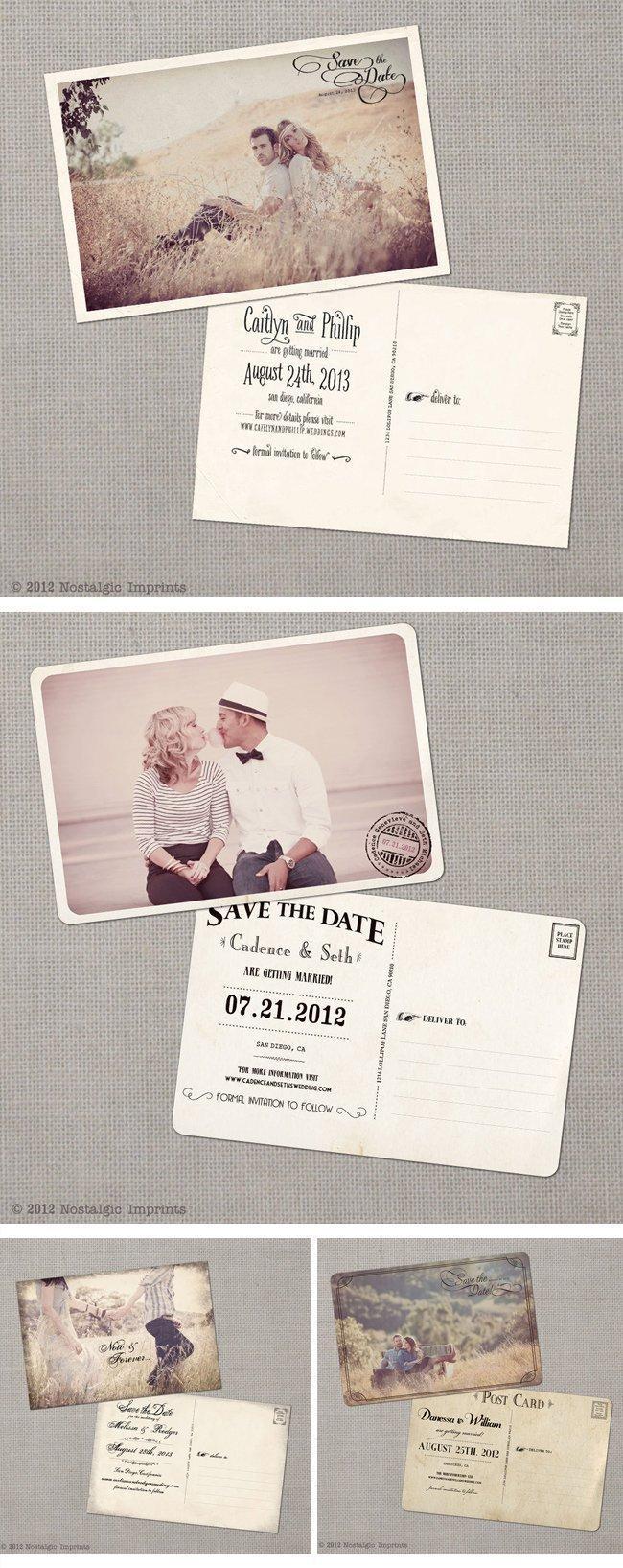 Nostalgic Imprints Vintage Hochzeitseinladungen Vintage Wedding