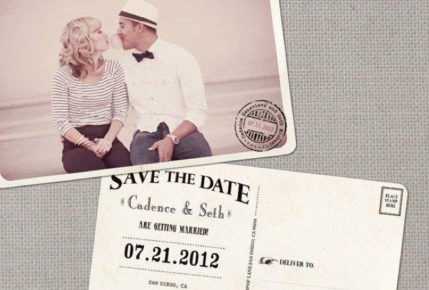 Hochzeitseinladungen Im Vintage Stil Liegen Derzeit Absolut Im Trend ...