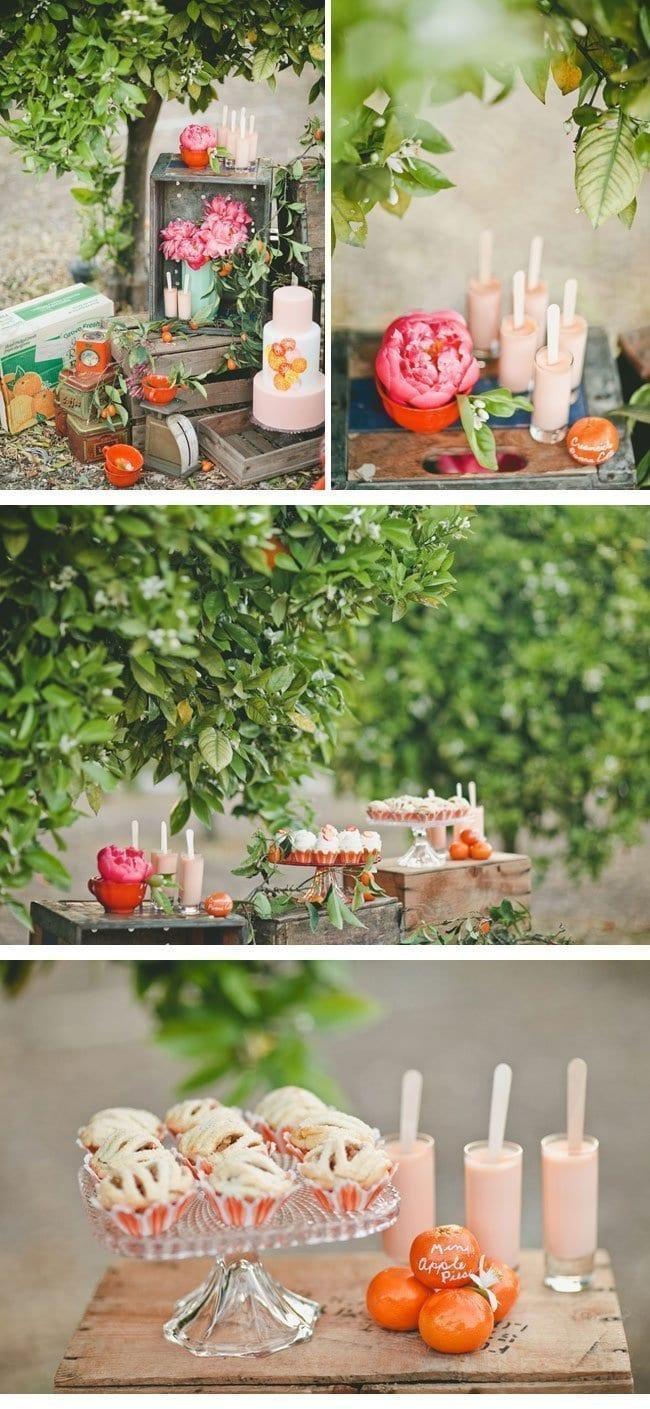 orange crush7-hochzeitsdekoration in pfirschtoenen