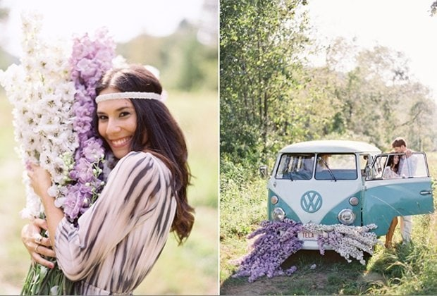... , Engagement Session im Hippie Style von Jose Villa - Hochzeitsguide