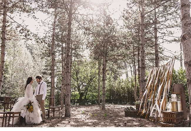 mediterranean forest wedding shoot 0025
