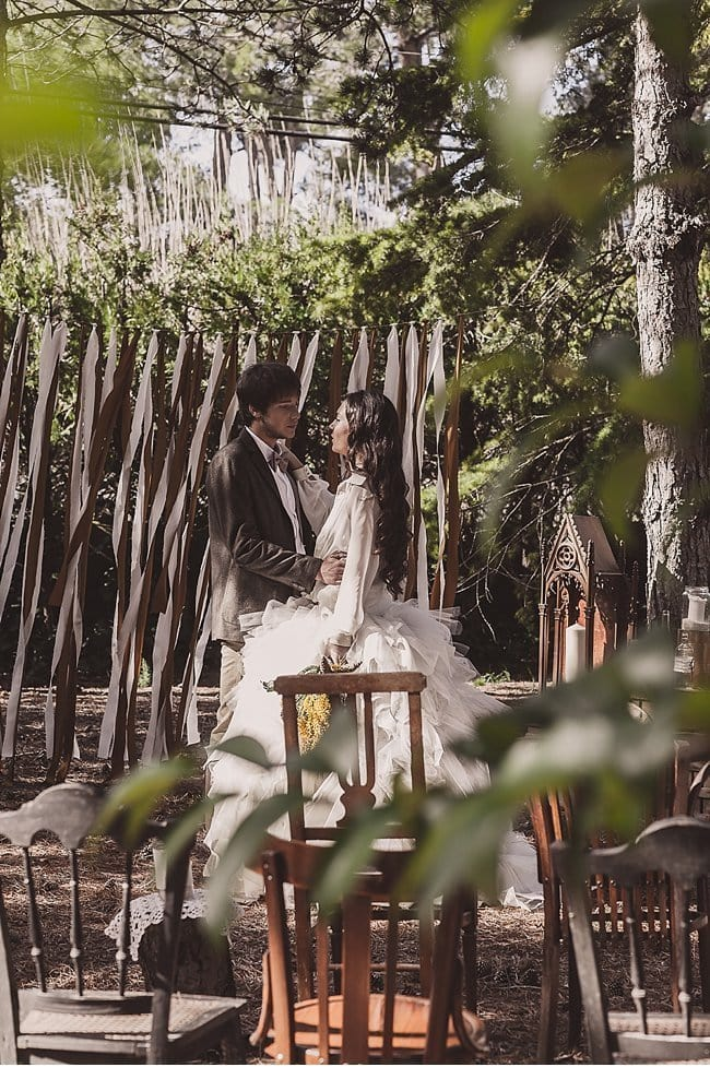 mediterranean forest wedding shoot 0027