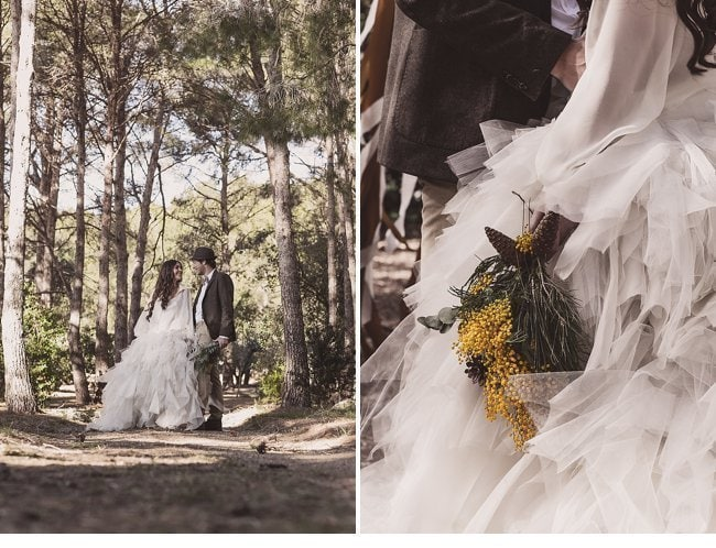 mediterranean forest wedding shoot 0029