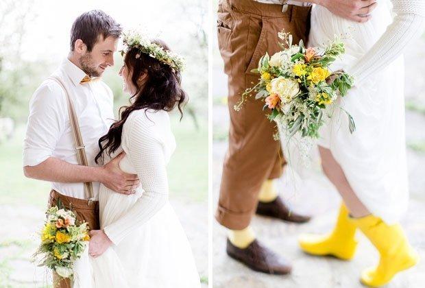 Frühjahrs-Gartenhochzeit in Gelbtönen von Tanja und Josef Photographie