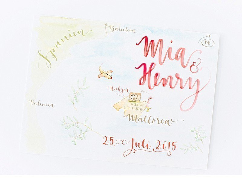 calligraphy wedding invitation 0004