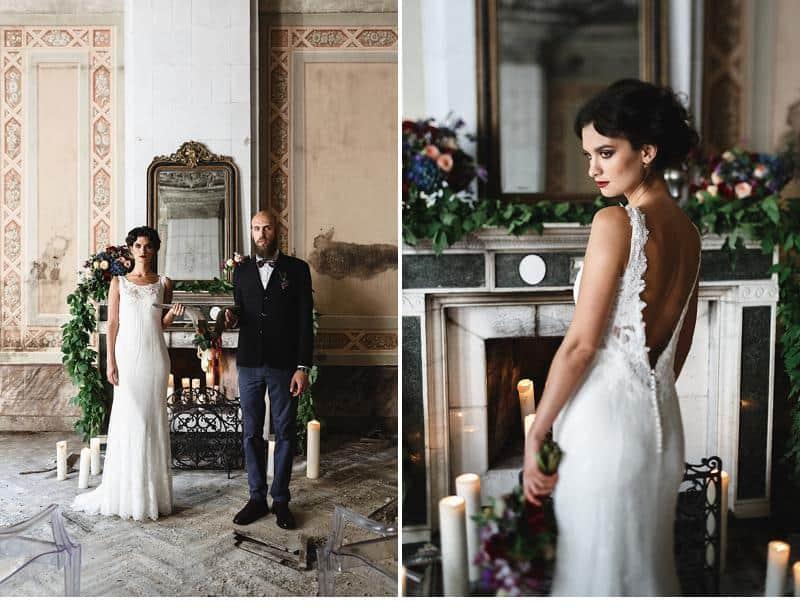 flowers and bones wedding inspirations 0016