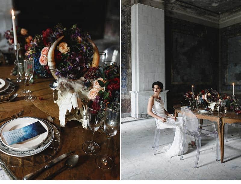 flowers and bones wedding inspirations 0021