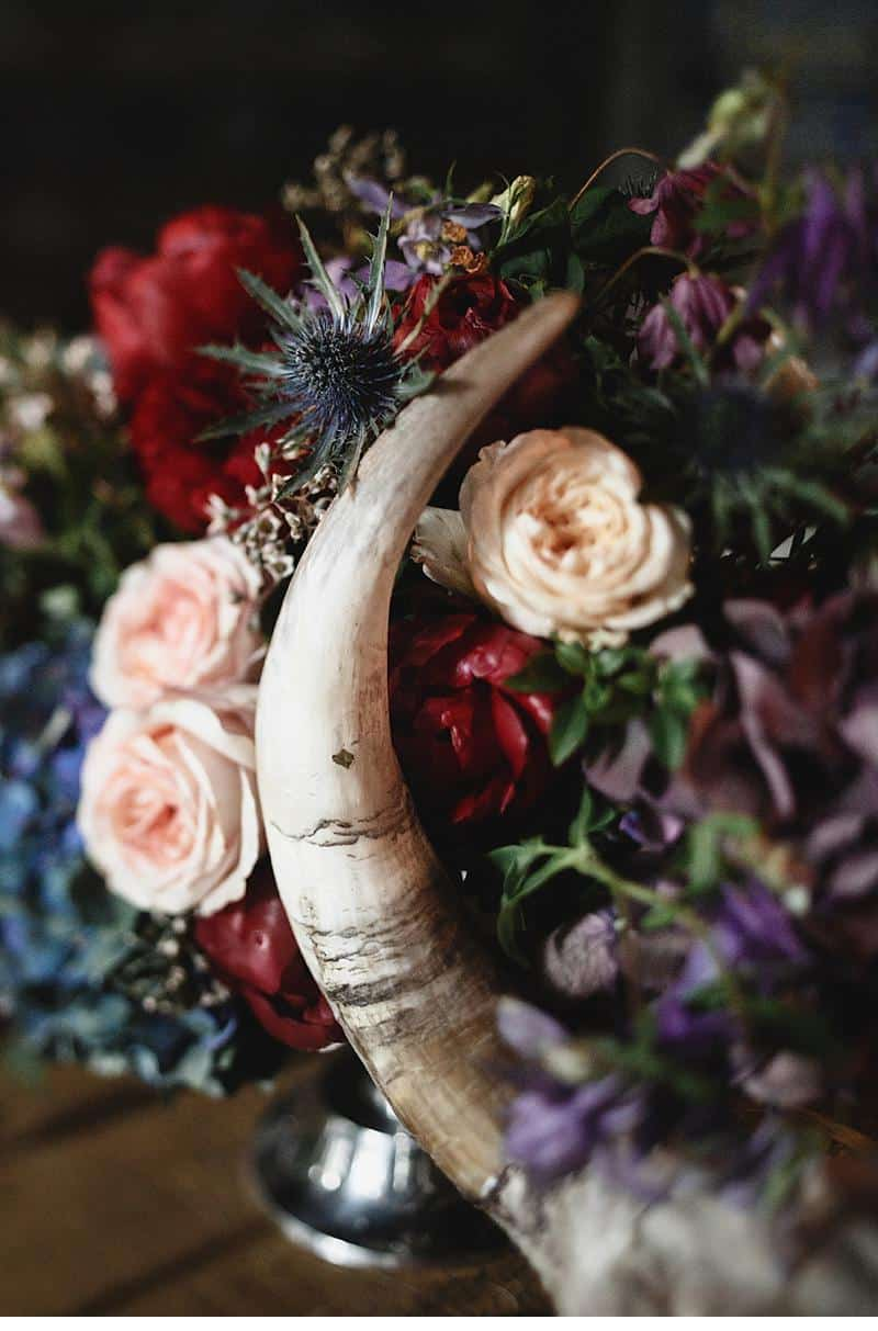 flowers and bones wedding inspirations 0023