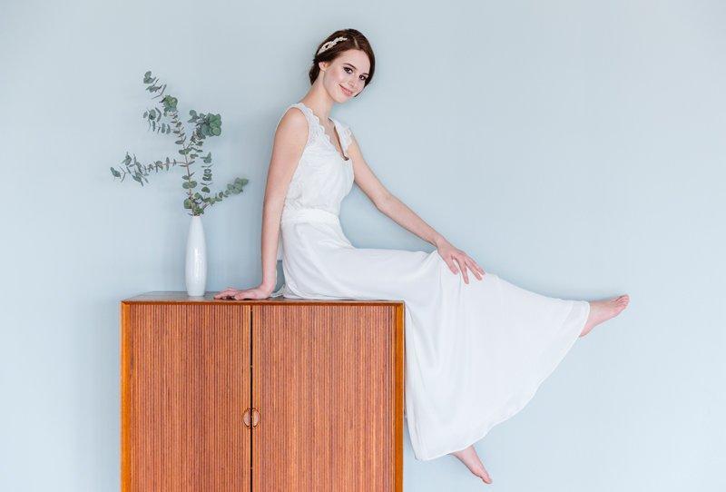 Romantische Brautkleider Camillie und Celine von Soeur Coeur