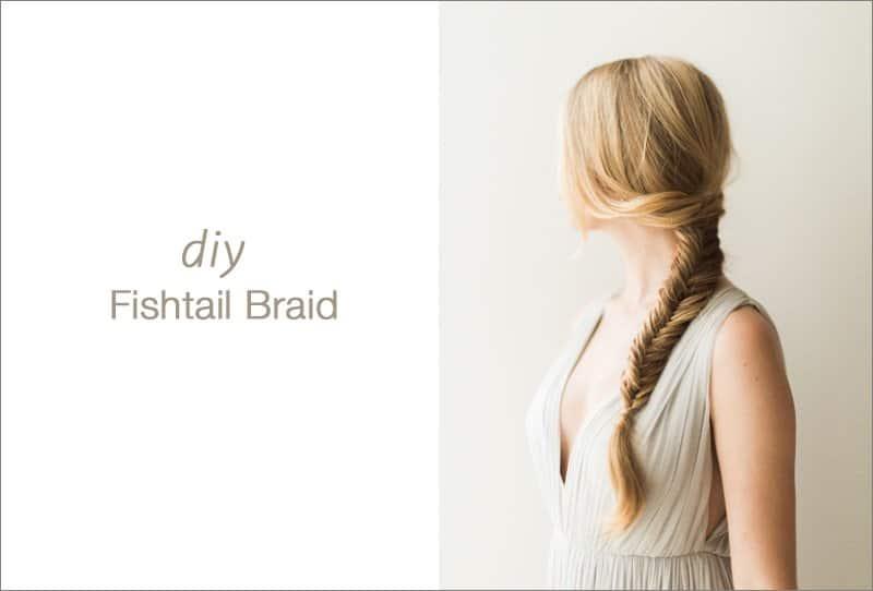 Romantische DIY Brautfrisur – Fishtail Braid von Heather Hawkins Photography