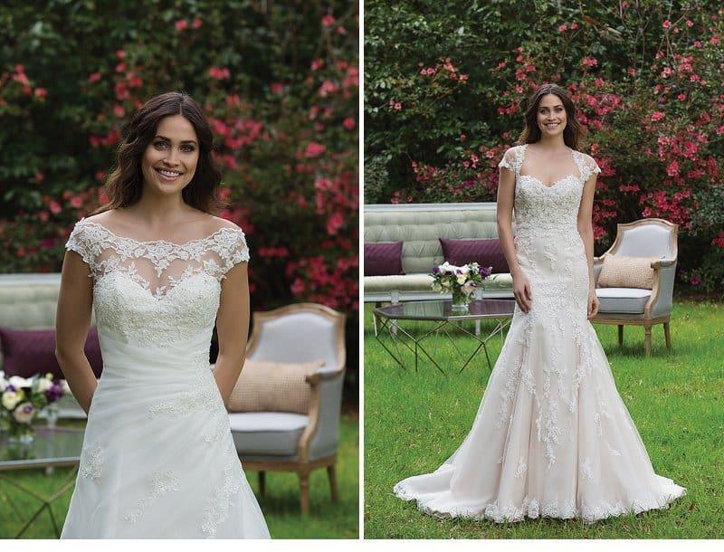 Anmutige Brautmode für die romantische Braut