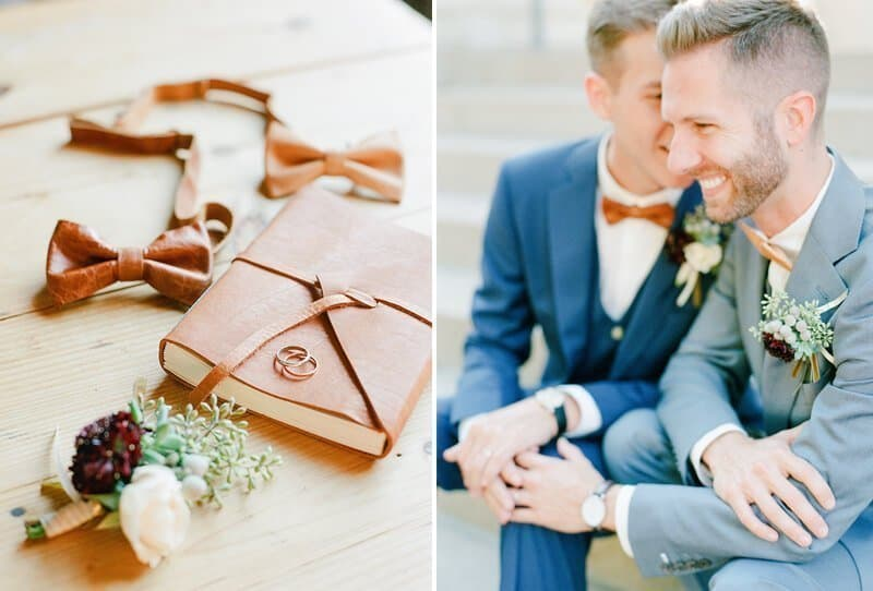 SoHo South + Leather Bowties + 2 Handsome Gents = The perfect Savannah..