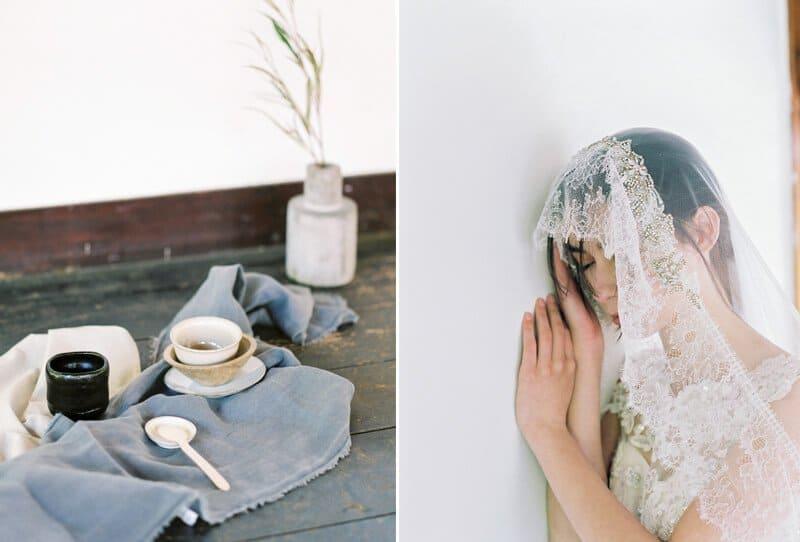 Wabi-Sabi – schlichte Braut Schönheit von Chymo & More Photography