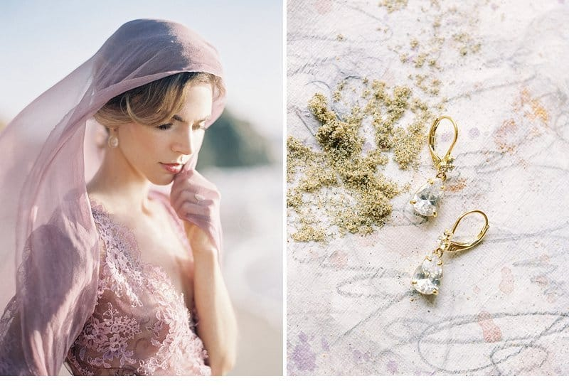 Graceful Beach Bride in Shades of Lilac by Luna de Mare Photography