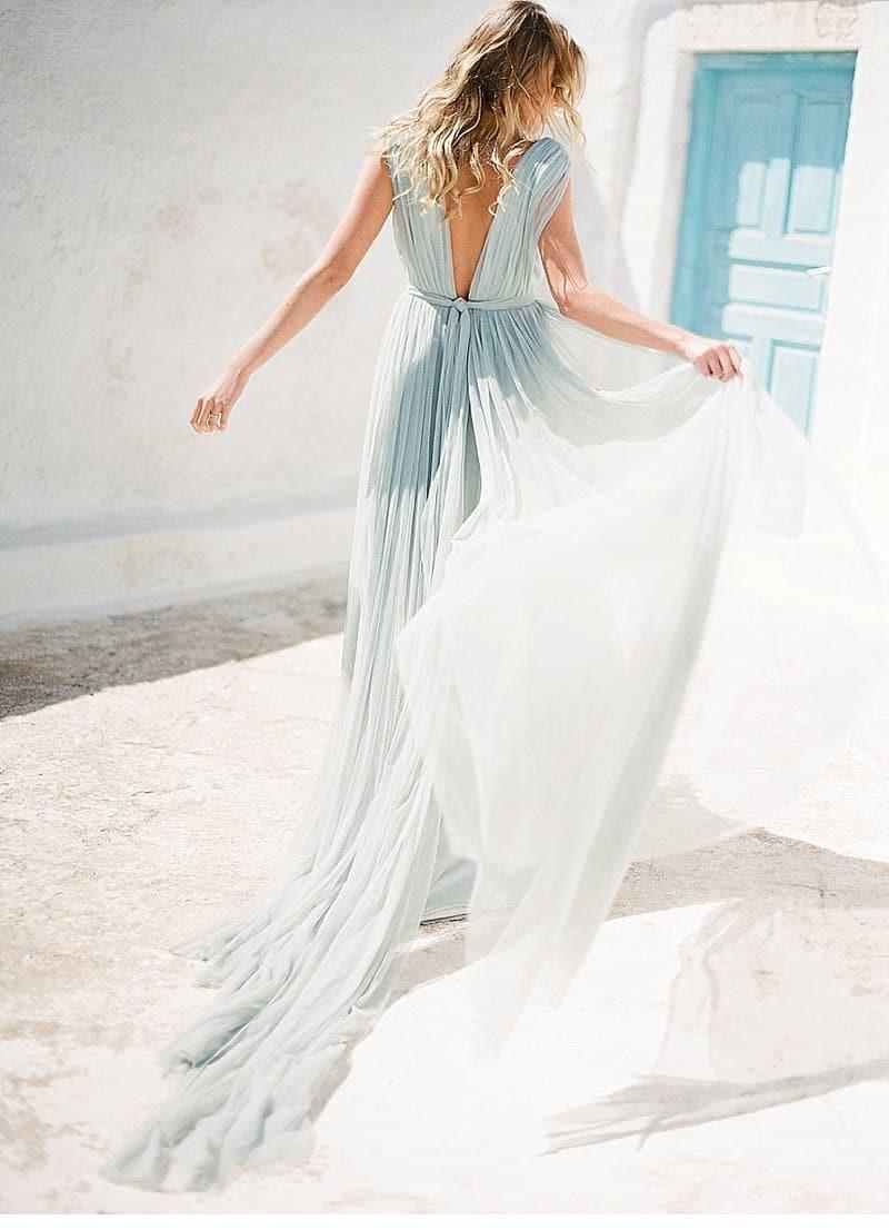 Graceful Bridal Inspirations at Santorini by Vaisa Han Photography