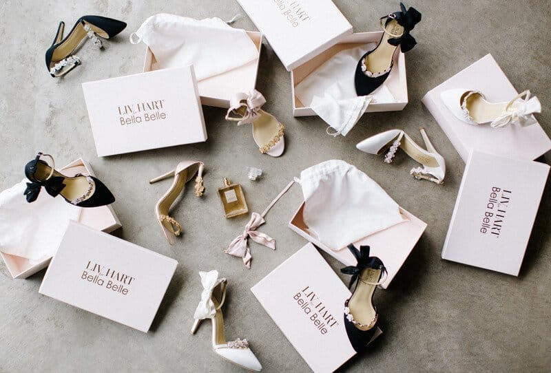 Edle Brautschuhkollektion von Bella Belle Shoes und Enchanted Atelier by Liv Hart