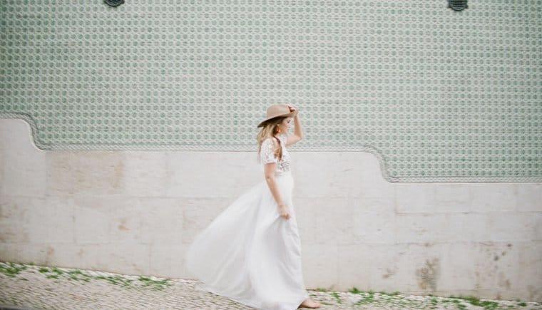 Moderne Braut in Lissabon von Celine Chhuon Photography