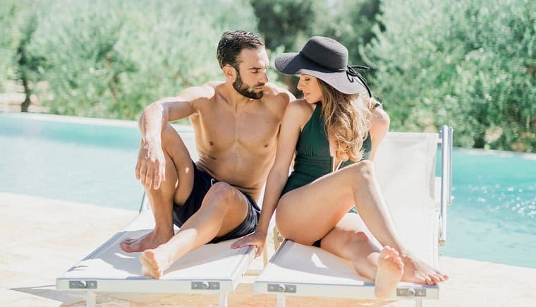 Apulien Flitterwochen am Pool von Elisabeth Van Lent Photography
