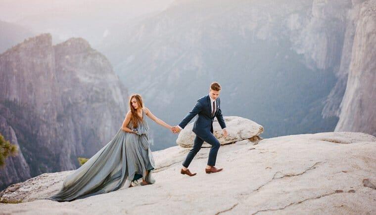 Beeindruckende Elopement Kulisse von Clay Austin Photography