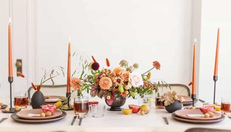 Minimalistische Inspirationen für eine Herbsthochzeit