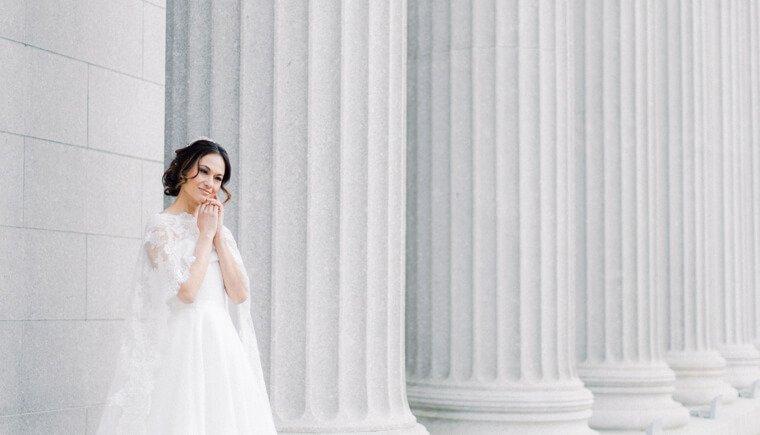 Die Braut mit dem umwerfenden Cape
