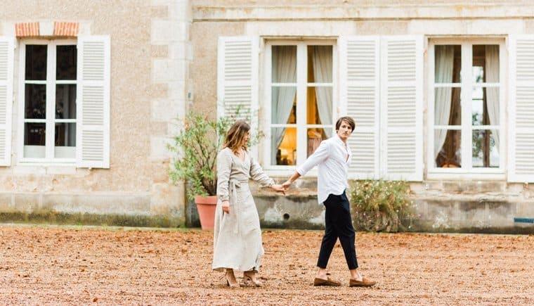 Picknick Engagement auf Schloss Bouthonvilliers