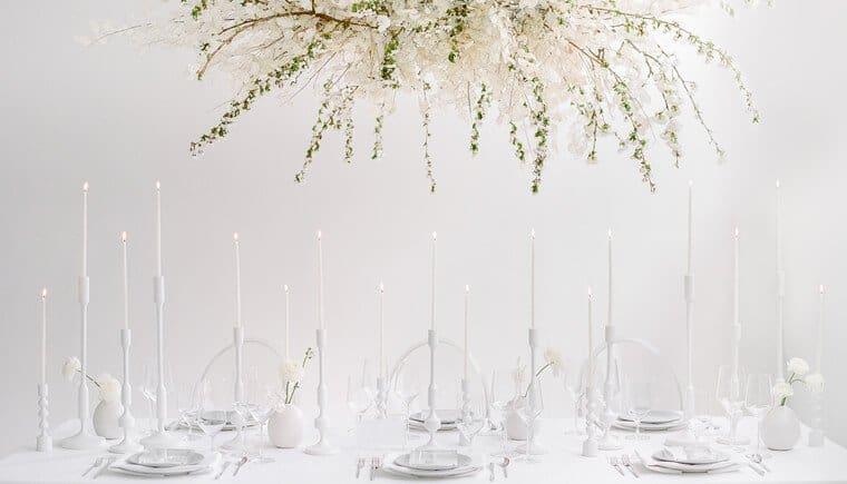 Moderne Interpretationen einer Hochzeit in Weiß